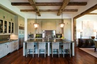 Exposed Wood Beams Ceiling - Transitional - kitchen ...