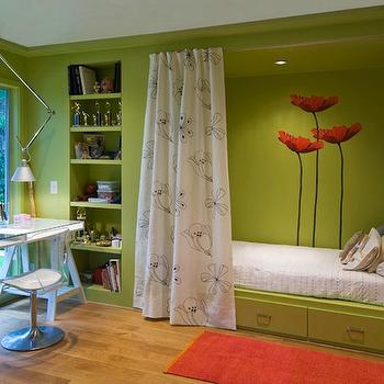 Apple Green Walls Transitional Girls Room Bella