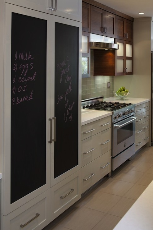 Chalkboard Refrigerator  Contemporary  kitchen  Style