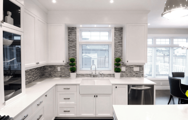 modern white kitchen cabinets Ikea Kitchen Cabinets - Contemporary - kitchen - Atmosphere Interior Design