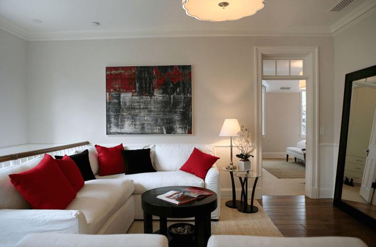 Second Floor Family Room  Transitional  living room