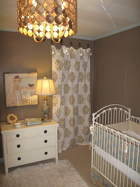 Taupe Nursery  Contemporary  nursery  Marianne Strong Interiors