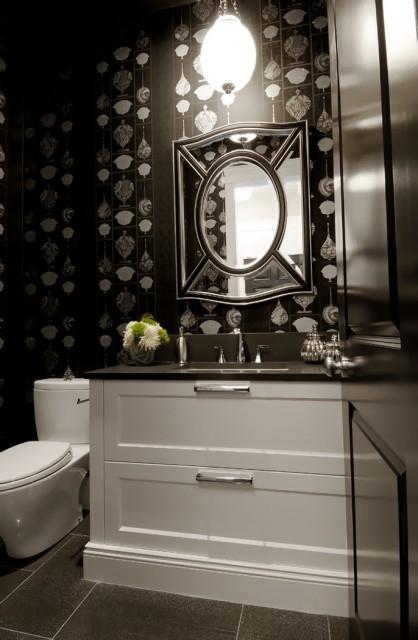 Powder Room Mirror  Contemporary  bathroom  Atmosphere