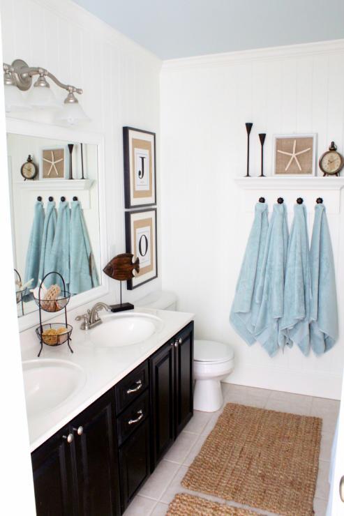 Blue Coastal Bathroom Design Ideas