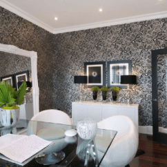 Noir Dining Chairs Office For Kids Modern Black And White Wallpaper Design Ideas