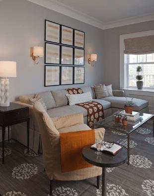 Madeline Weinrib Mandala Rug  Transitional  living room