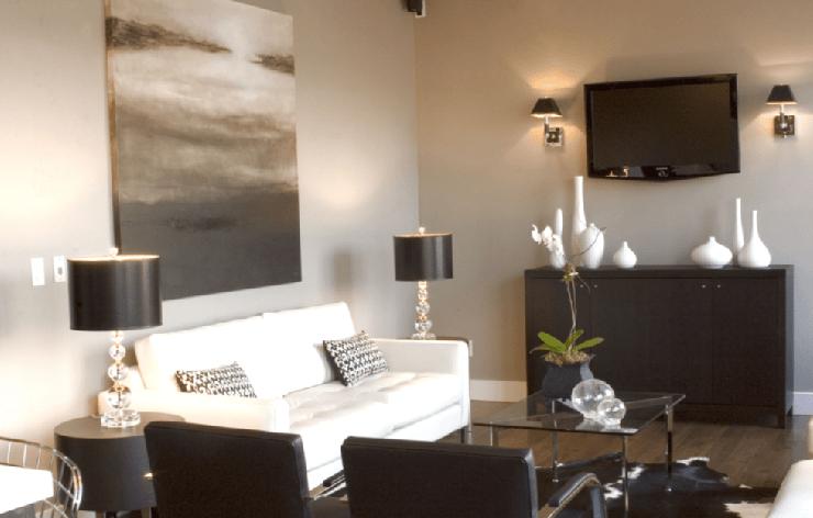 Espresso Media Cabinet  Contemporary  living room