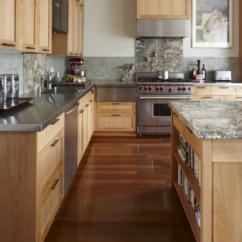 Blonde Kitchen Cabinets Island With Butcher Block Top Maple Contemporary Andre Rothblatt