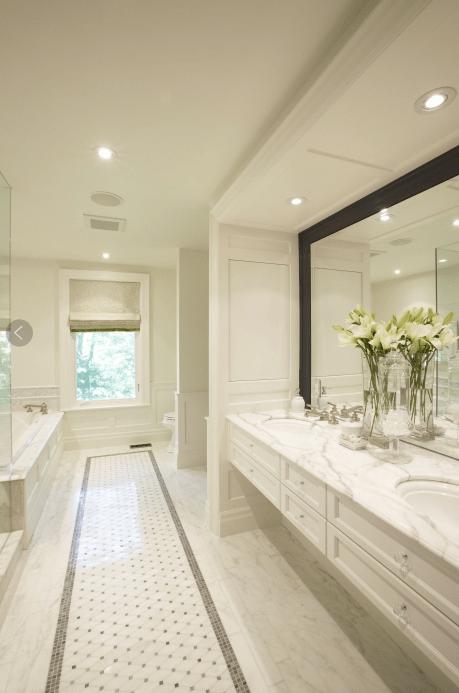 Floating Vanity  Transitional  bathroom  Meredith Heron
