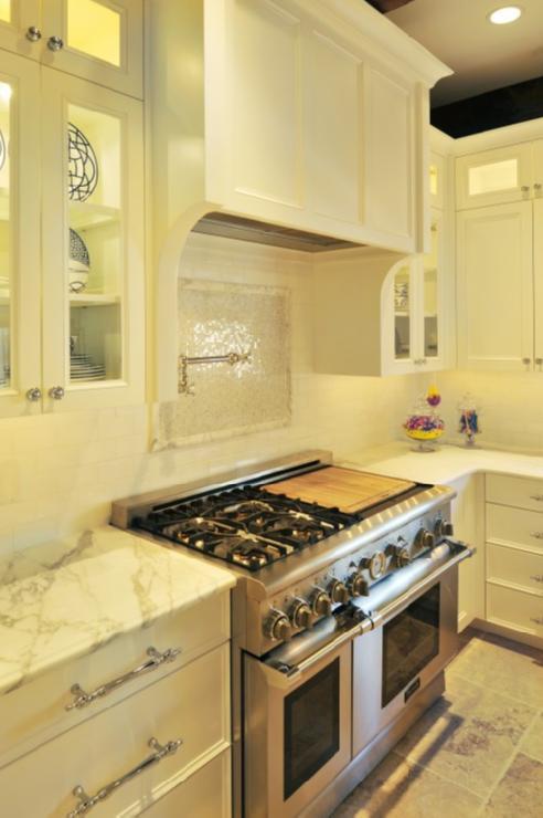 Mosaic Cooktop Backsplash  Transitional  kitchen