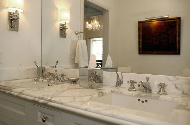 Calcutta Marble Countertops  Contemporary  bathroom
