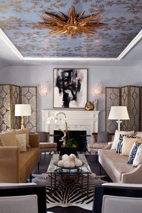 Folding Screens Contemporary Living Room Elizabeth