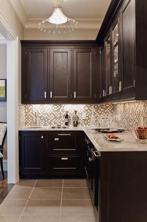 Glass Tile Backsplash Contemporary Kitchen Venegas And Company