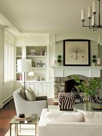 Zebra Ottomans - Transitional - living room - Bella ...