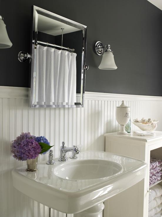 Beadboard Bathroom Vanity