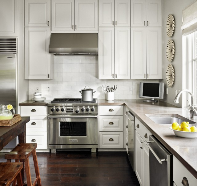 Ceiling Height Cabinets Transitional Kitchen Hugh Jefferson Randolph Architects