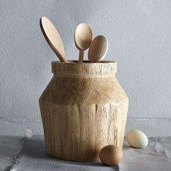 Large Kitchen Rugs Marble Tables Acacia Wood Utensil Holder - West Elm