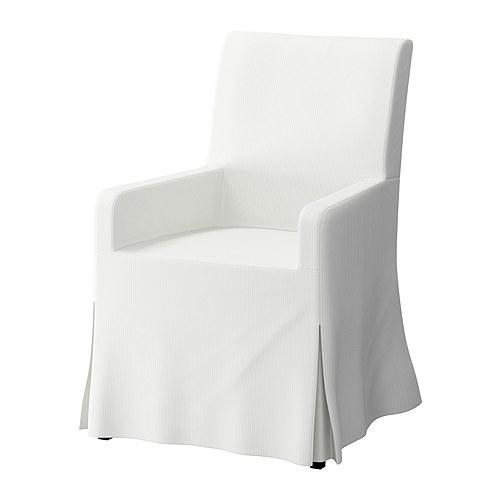 gray chair slipcover amazon desk chairs ikea - upholstered henriksdal armchair