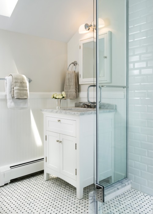 Restoration Hardware Bathroom Vanity  Transitional