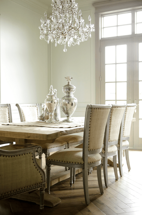 small scale upholstered dining chairs rent tables and sacramento french table - room decor de provence