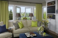 Chartreuse Curtains - Traditional - living room - Graciela ...