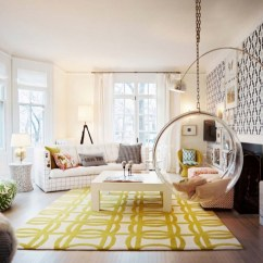 Yellow Living Room Rugs Black Gray And White Ideas Hanging Bubble Chair Contemporary Lonny Magazine