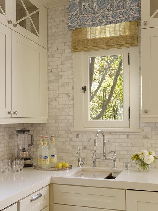 Carrara Marble Backsplash  Transitional  kitchen