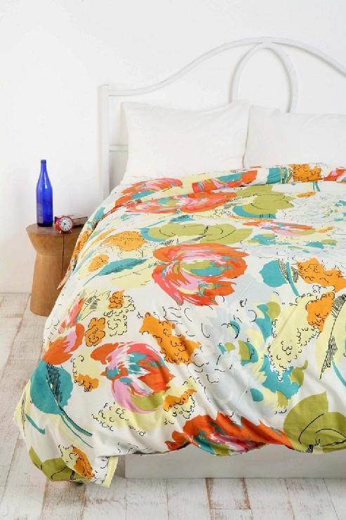 Orange Fall Peony Wallpaper Urbanoutfitters Com Gt Watercolor Floral Duvet Cover