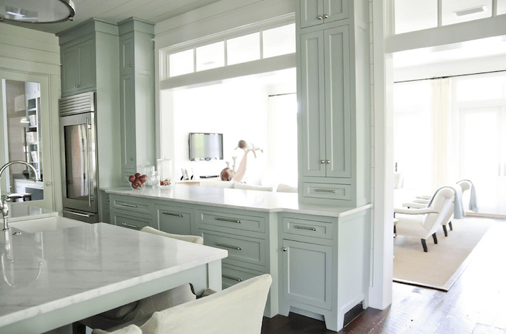 Gray Blue Cabinets  Cottage  kitchen  Urban Grace Interiors