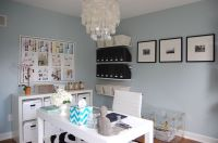 Blue Grey Paint - Contemporary - den/library/office ...
