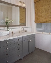 Gray Bathroom Vanity - Cottage - bathroom - Wick Design