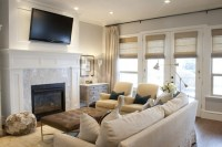 TV over Fireplace - Transitional - living room - Alice ...