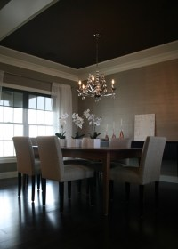 Platinum Gray Grasscloth - Contemporary - dining room ...