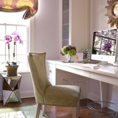 Lilac Office Chair Table Amd Chairs Built In Desk - Contemporary Den/library/office Muse Interiors