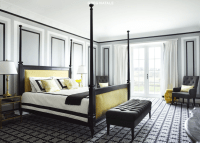 Yellow and Black Bedroom - Contemporary - bedroom - Greg ...