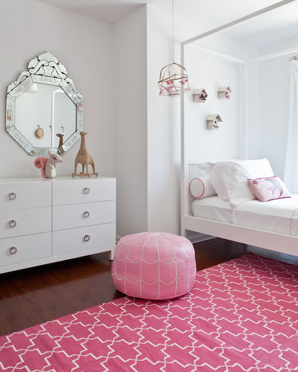 Pink Trellis Rug  Contemporary  girls room  Sissy and Marley
