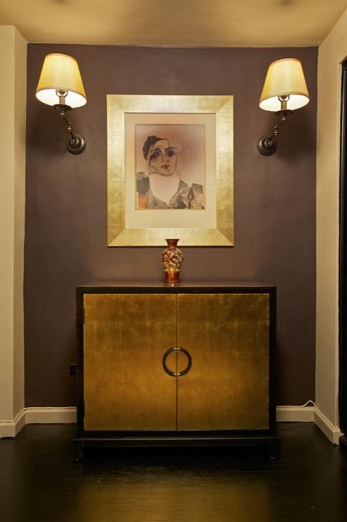 Purple Gray Paint Color  Contemporary  entrancefoyer