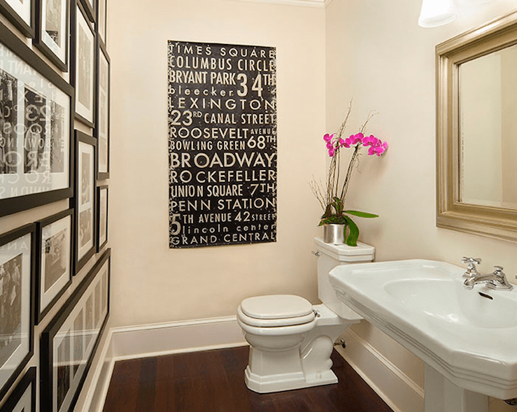 Photo Wall in Bathroom  Transitional  bathroom  Traci