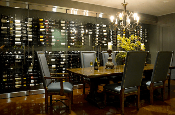 Built In Wine Rack  Contemporary  dining room  Ambiance Interiors