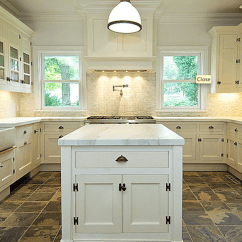 Slate Floor Kitchen Rochester Remodeling White Interior Design Decor U Shaped Transitional Bakes And Company