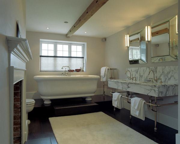 Bathtub on Platform  Transitional  bathroom  Carden