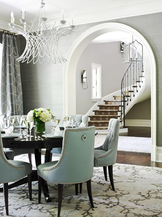 Tufted Dining Chair  Contemporary  dining room  Ralph