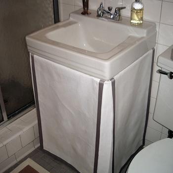 small skirted bathroom sink design ideas