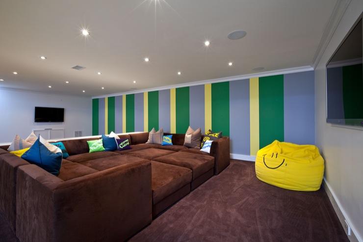 pitt sectional contemporary basement melanie morris design