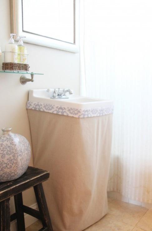 skirted bathroom sink transitional
