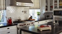 Striped Roman Shades - Transitional - kitchen - Vallone Design