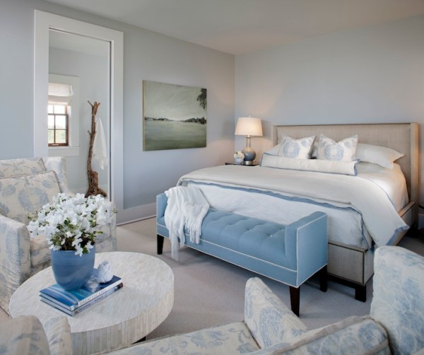 simple light blue walls master bedroom Light Blue Walls Design Ideas