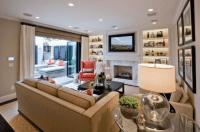 Living Room Built Ins - Transitional - living room - Lux Decor