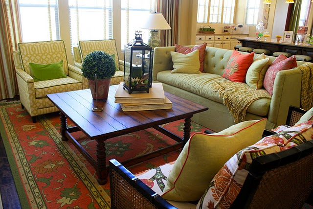 lime green and brown living room ideas my is too dark tufted sofa - eclectic 6th street ...