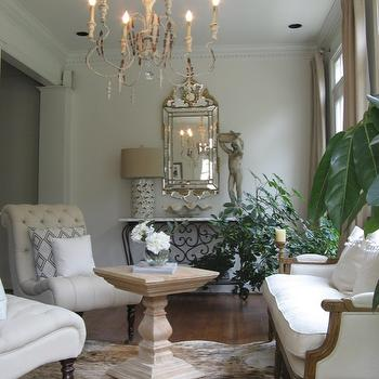french provincial living rooms corner stands for room settee benjamin moore china white